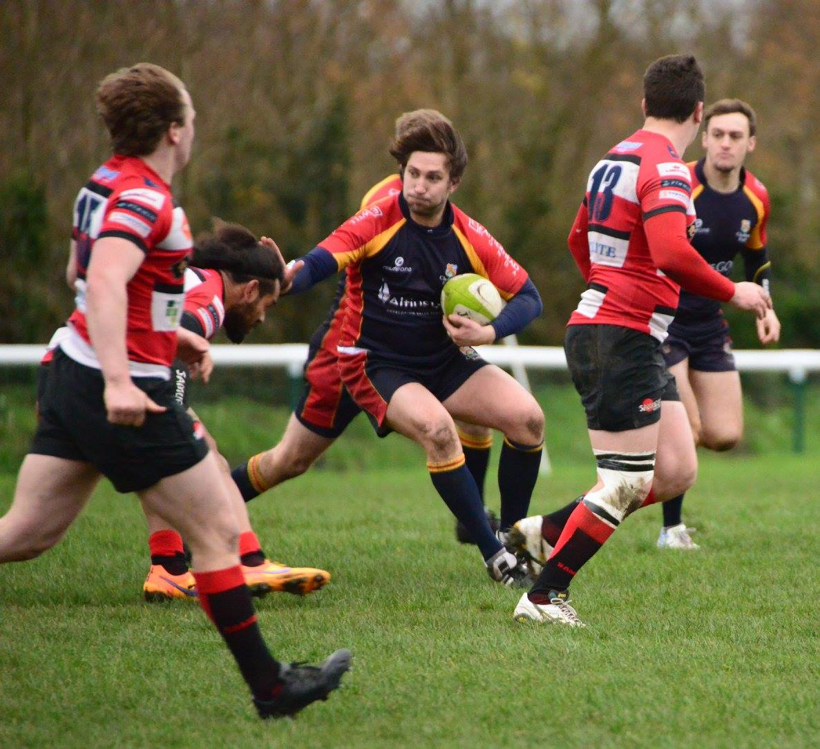 Chobham 1st XV in second half blues against Maidstone
