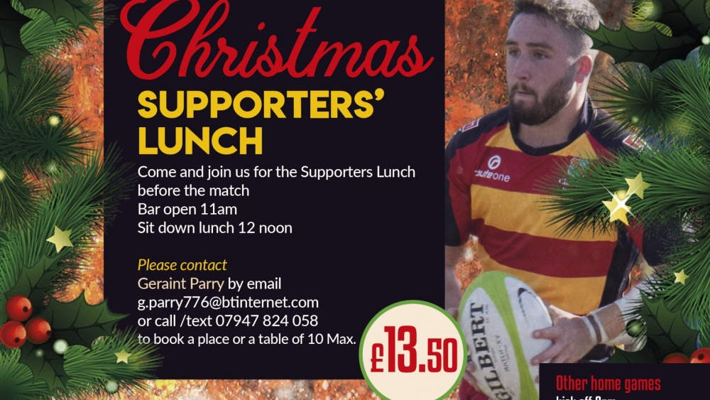 Supporters lunch poster Christmas 2019-20pdf
