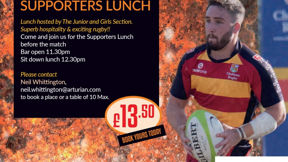 Supporters lunch poster London Exiles